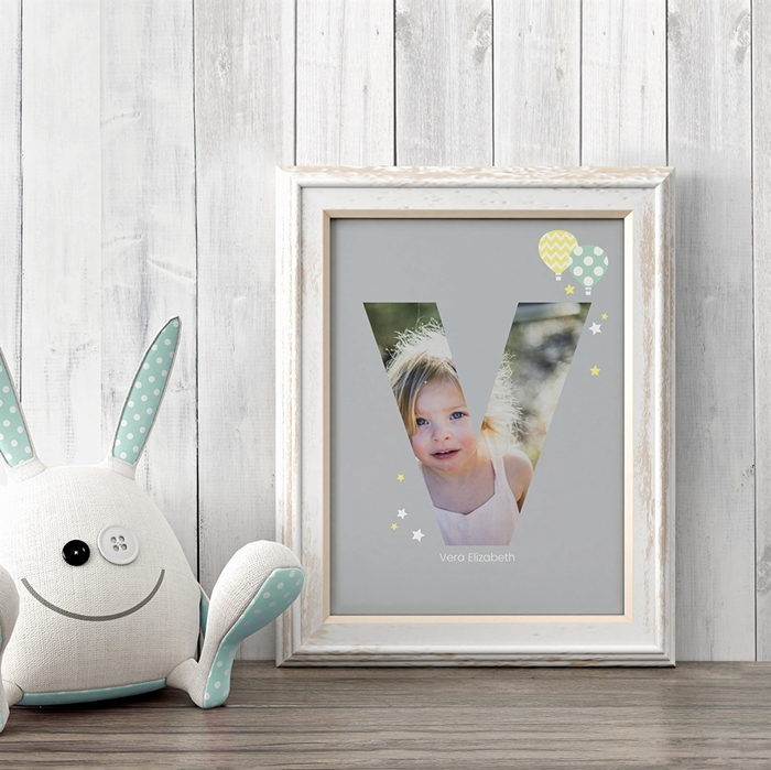 Picture of Baby & Kids Letter V Poster