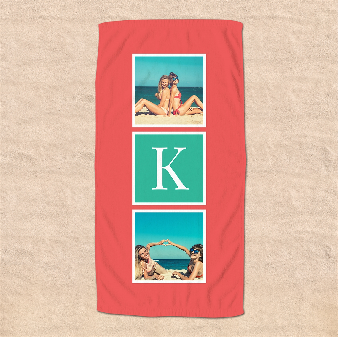 Picture of Monogram Photo Beach Towel