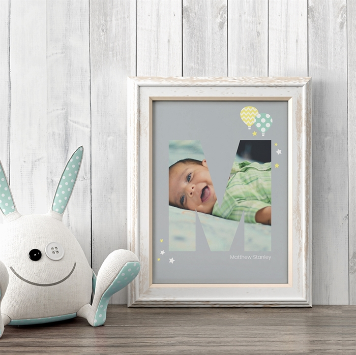 Picture of Baby & Kids Letter M Poster