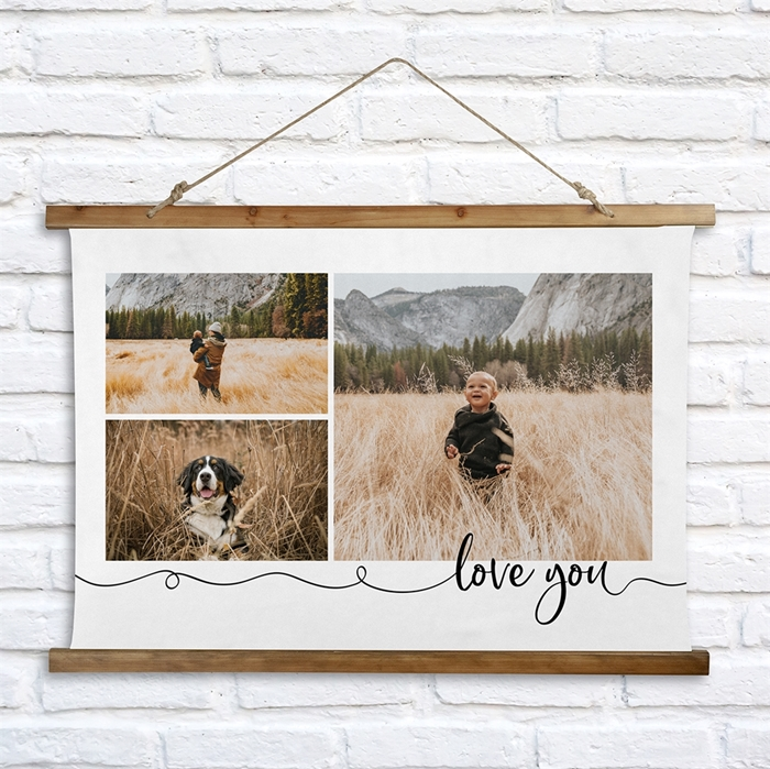 Picture of Love You Wooden Wall Tapestry