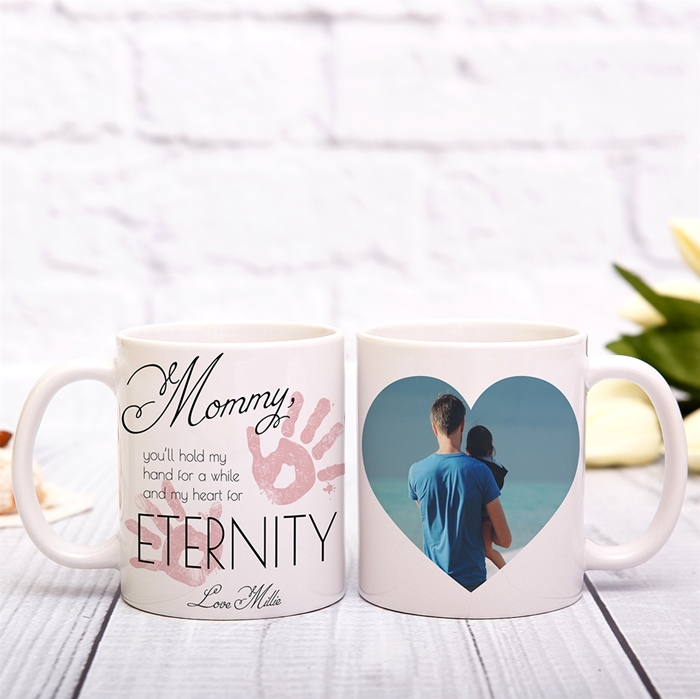 Picture of Hold My Hand Mommy Pink Mug