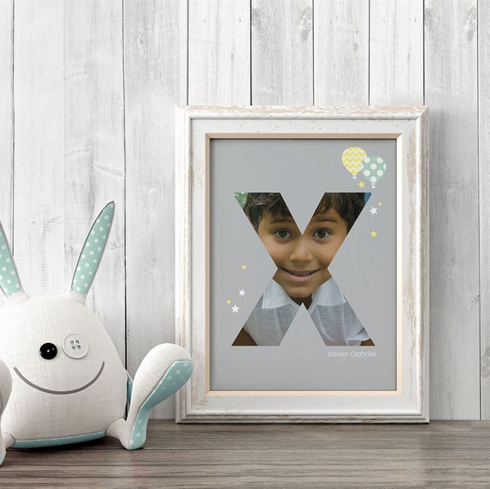 Picture of Baby & Kids Letter X Poster