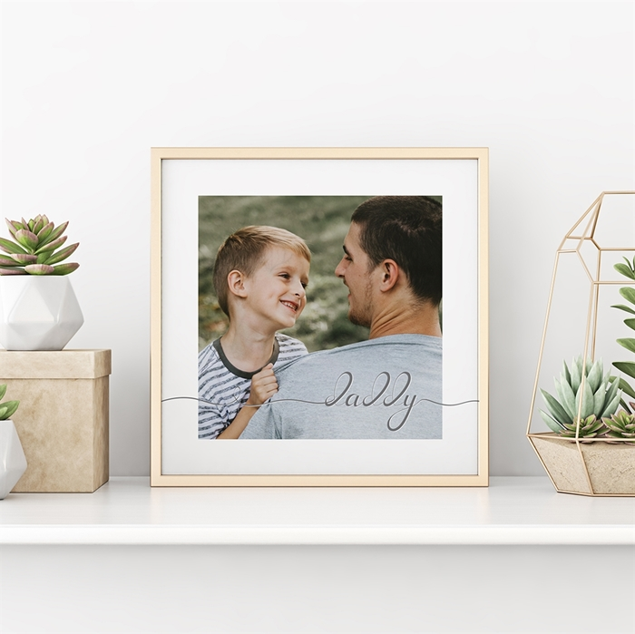 Picture of Daddy Script Personalized Poster