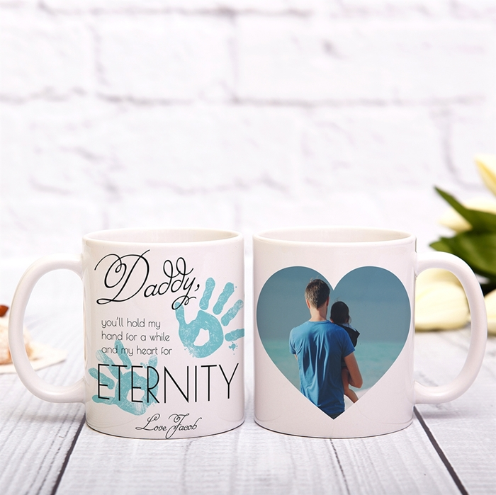 Picture of Hold My Hand Daddy Blue Mug