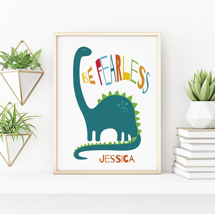 Picture of Be Fearless Dinosaur Poster