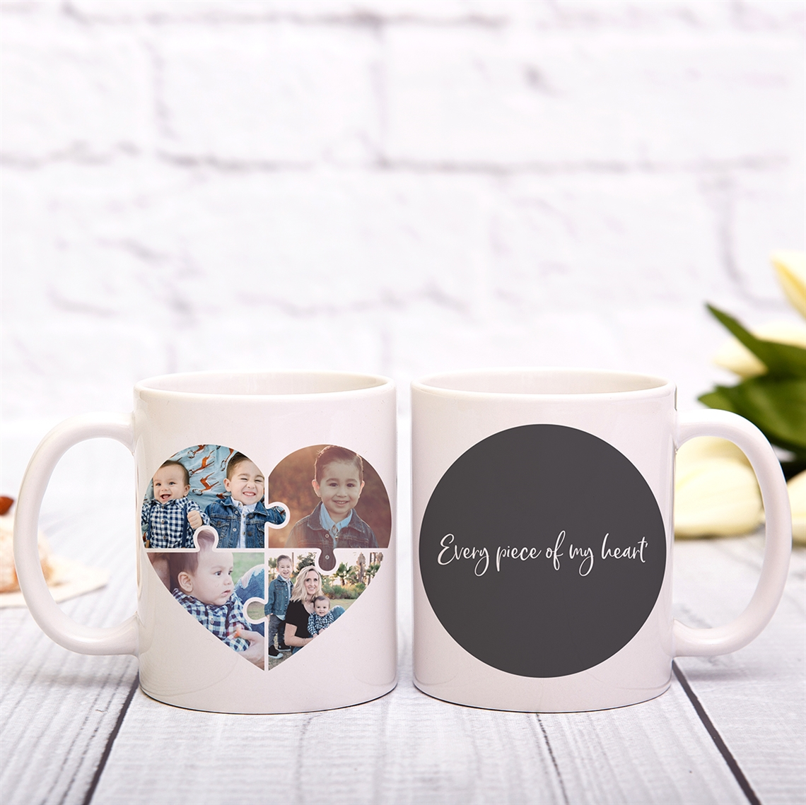 Picture of Heart Jigsaw Personalized Mug
