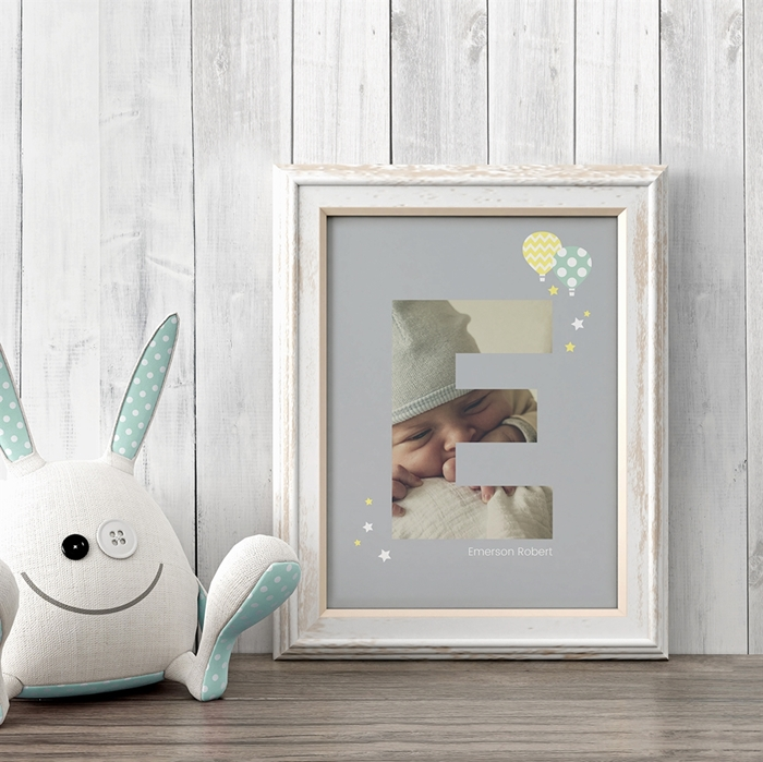 Picture of Baby & Kids Letter E Poster