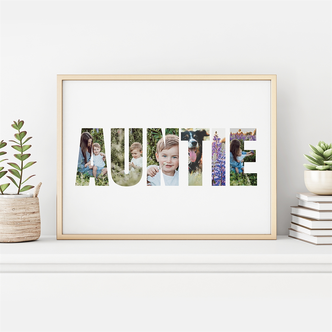 Picture of Auntie Photo Personalized poster