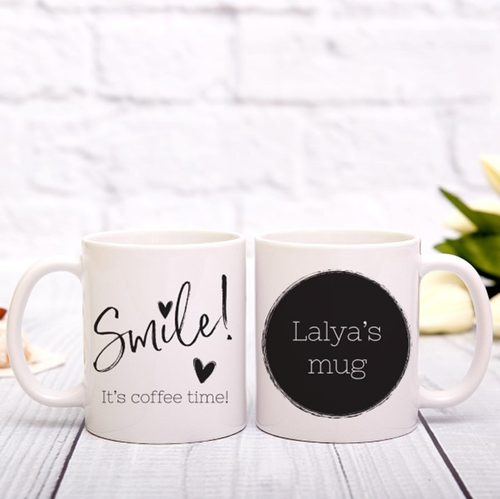 Picture of Smile, It's Coffee Time Personalized Mug