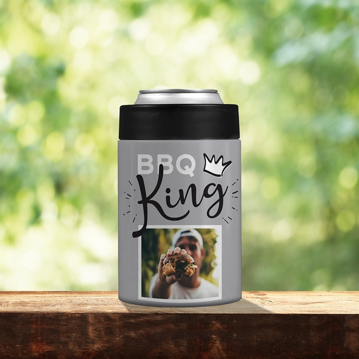 Picture of BBQ King Grey Stainless Steel Koozie