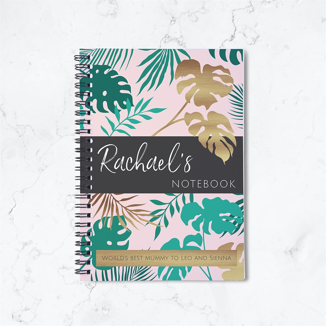 Picture of Contemporary Floral Spiral Notebook