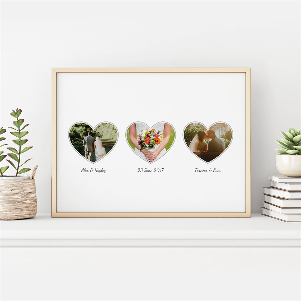 Picture of 3 Heart Photo Personalized Poster