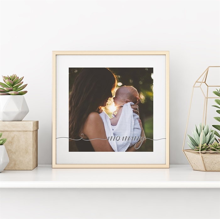 Picture of Mommy Script Personalized Poster