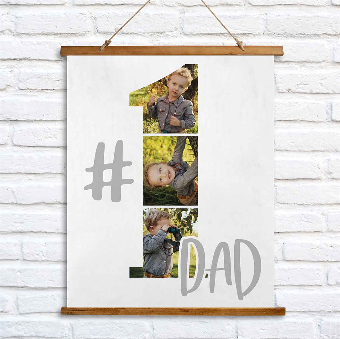 Picture of #1 Dad Wooden Wall Tapestry
