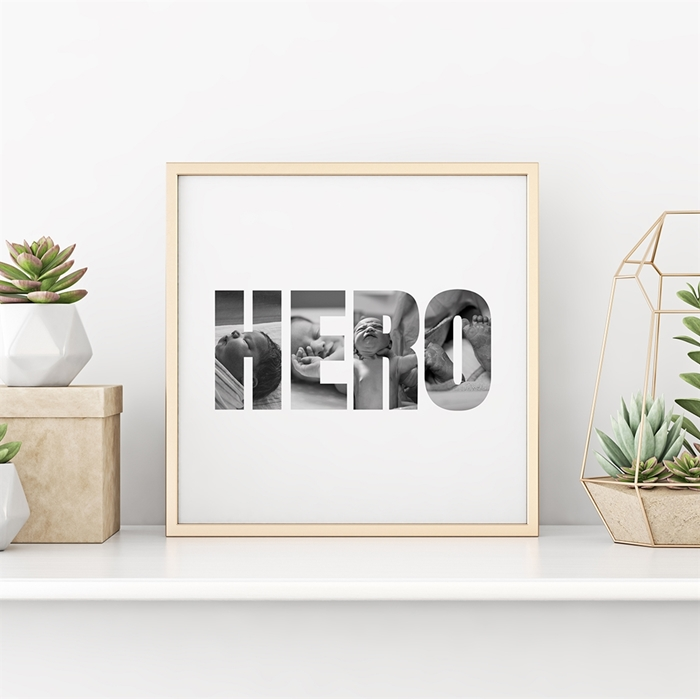 Picture of Hero Photo Personalized Poster
