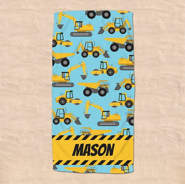 Picture of Construction Vehicles Beach Towel