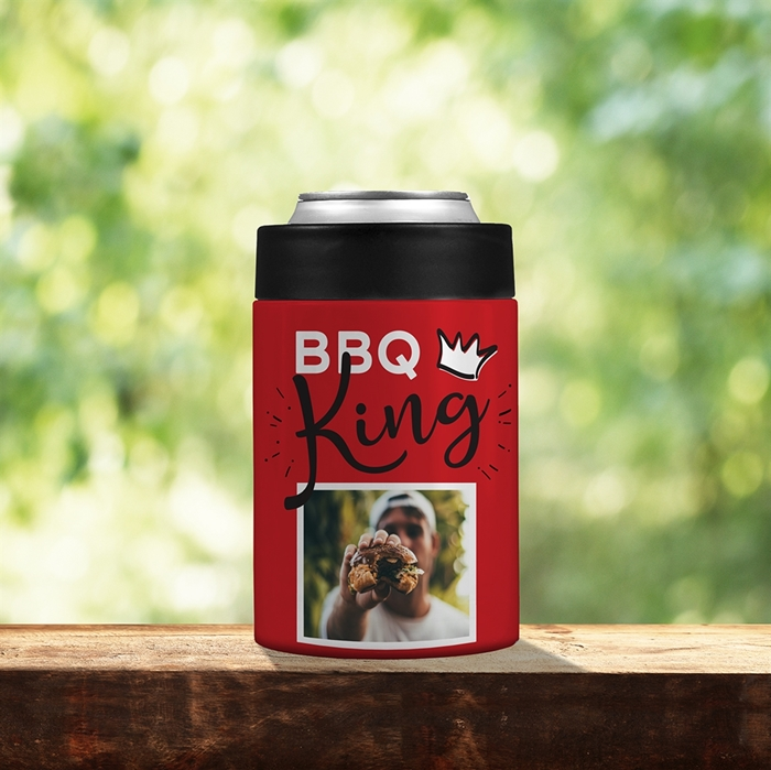 Picture of BBQ King Red Stainless Steel Koozie