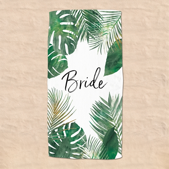 Picture of Green Palm Beach Towel