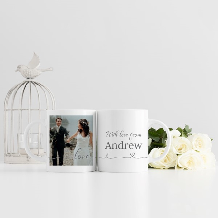 Picture of Love Script Personalized Mug