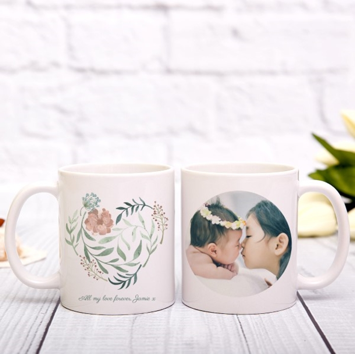 Picture of Heart in Bloom Personalized Mug