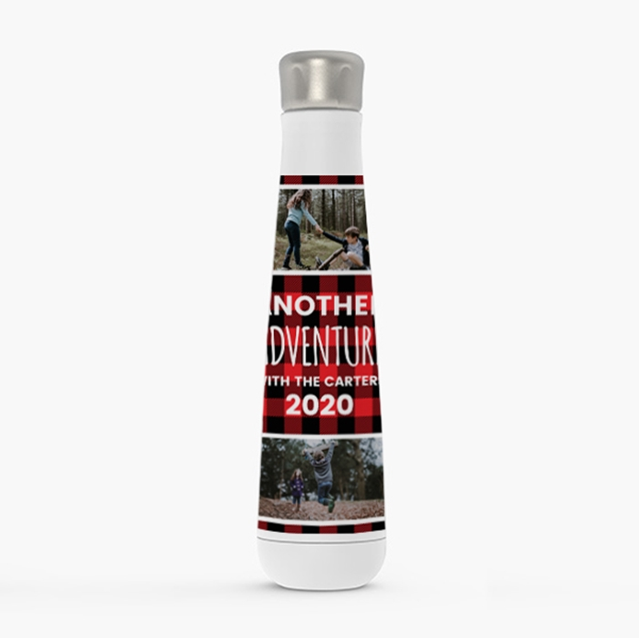 Picture of Red Buffalo Plaid Stainless Steel Water Bottle