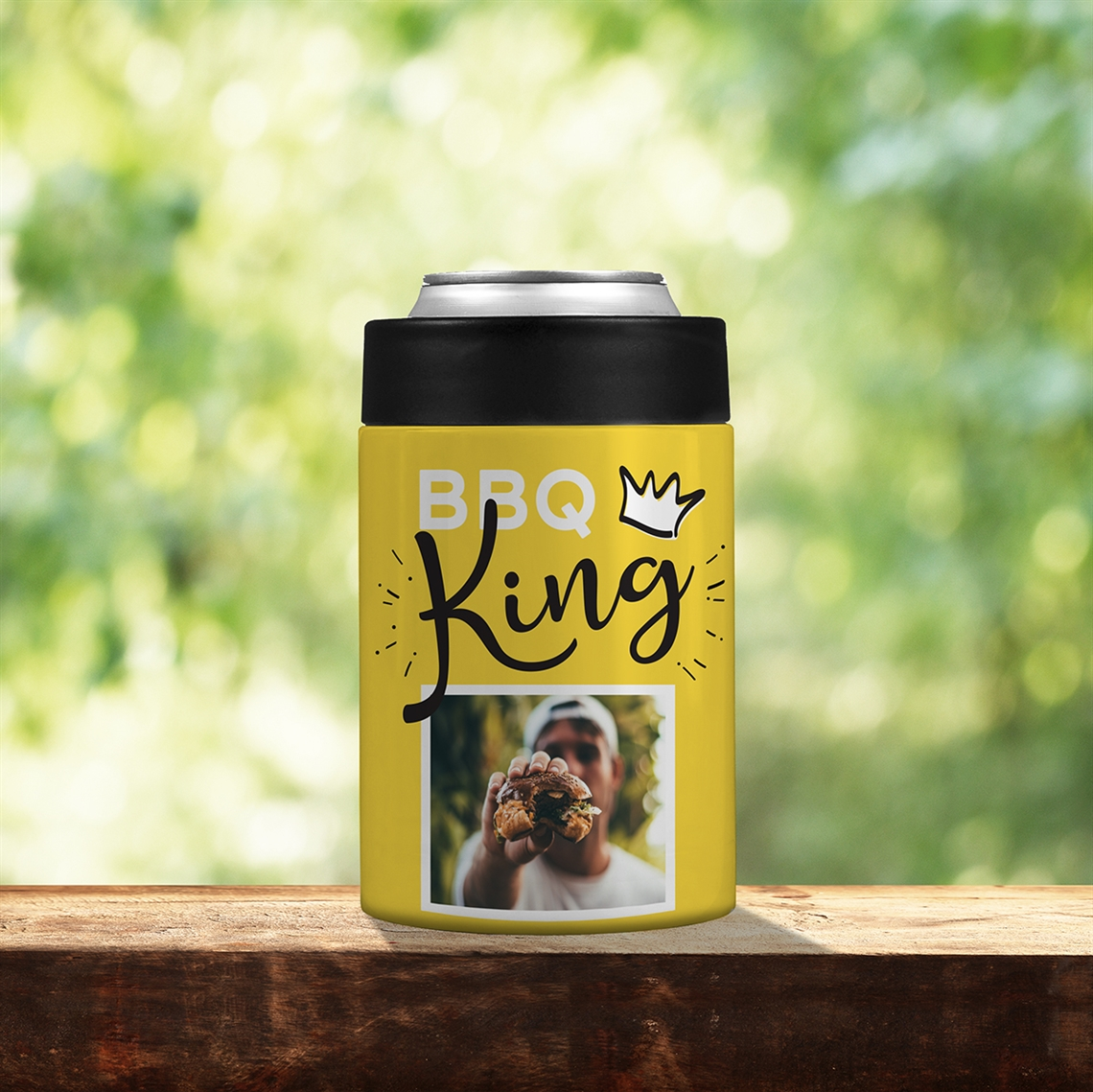 Picture of BBQ King Yellow Stainless Steel Koozie