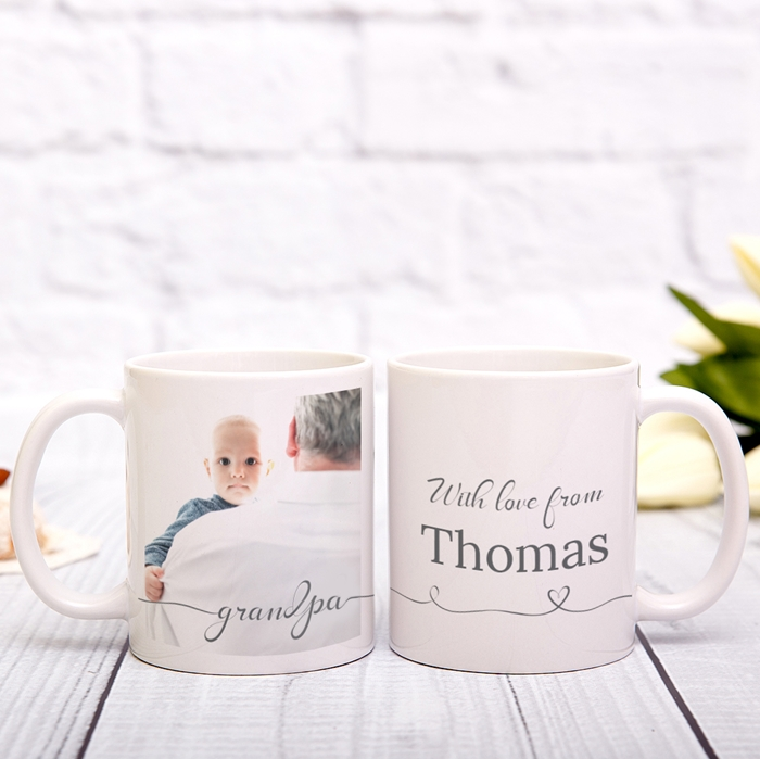 Picture of Grandpa Script Personalized Mug